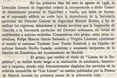 Dossier: Memoria histórica y checas.