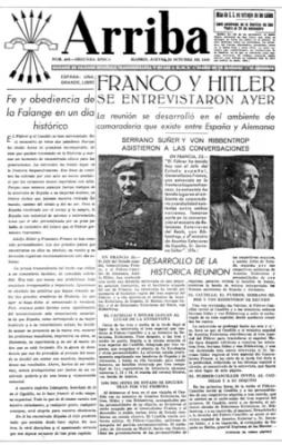 FRANCO ANTE HITLER