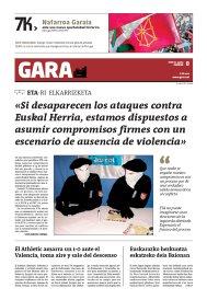 """Entrevista a ETA en GARA: """"Si desaparecen los ataques, estamos dispuestos a asumir compromisos firmes con un escenario sin violencia"""""""